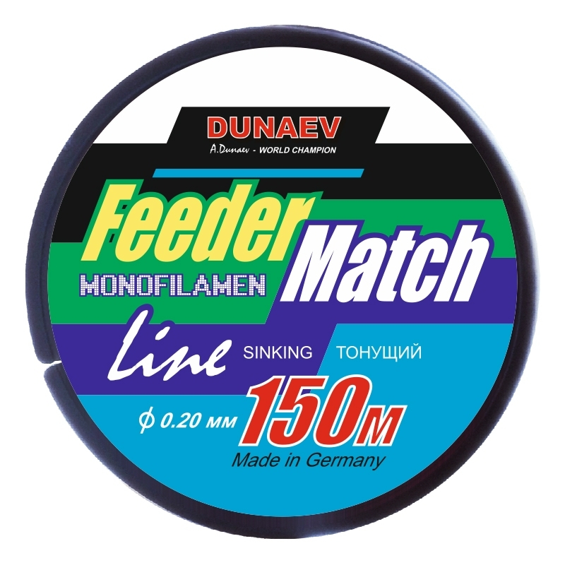 Леска Dunaev Feeder-Match Sinking Black 0.20мм 150м - фото